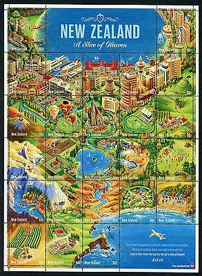 2010 New Zealand Mnh A Slice Of Heaven Stamp Sheet