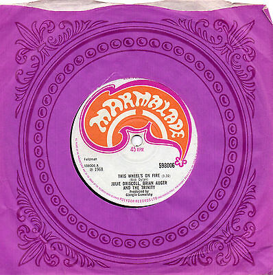 JULIE DRISCOLL, BRIAN AUGER AND THE TRINITY this wheels on fire '68 UK MARMALADE