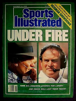 Authentic Autographed Signed NFL Football Sports Illustrated SI Tom Landry COA