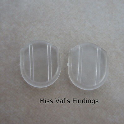 24 clear comfort pads for flat hinge clip on earrings