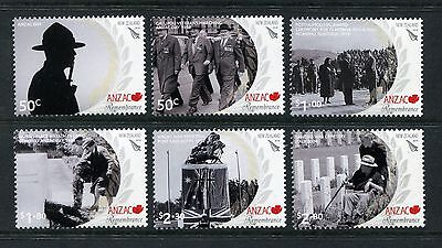 2010 New Zealand Mnh Anzac Commemorative Stamp Set
