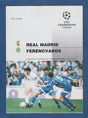 Orig.PRG  Champions League 1995/96   REAL MADRID - FERENCVAROS BUDAPEST  !!  TOP