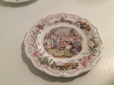 Brambly Hedge The Birthday Plate  1st Quality