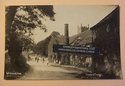 RP Postcard c.1920 THE OLD FORGE WITHINGTON Nr CHELTENHAM GLOUCESTERSHIRE