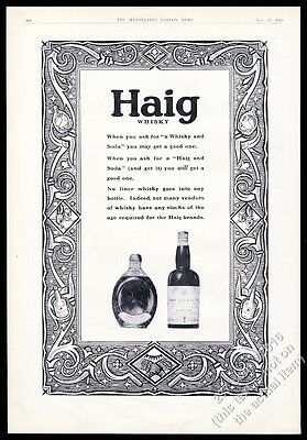 1928 Haig & Haig Scotch Whisky Dimple Scots Pinch bottle photo vintage print ad
