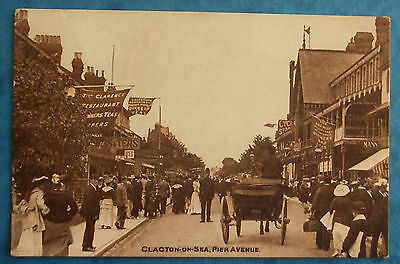 DAINTY SERIES Postcard POSTED 1906 PIER AVENUE CLACTON-ON-SEA ESSEX