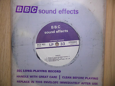 "BBC Sound Effects 7"" Record - Canoes - TV Memorabilia, Collectable"