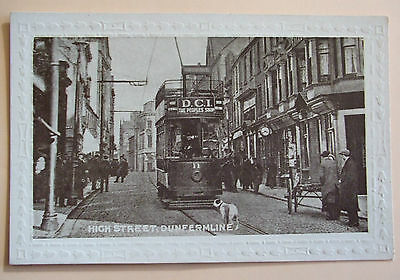 Postcard c.1905 HIGH STREET DUNFERMLINE FIFE SCOTLAND
