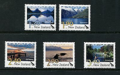 2010 New Zealand Mnh Scenic Definitive Stamp Set