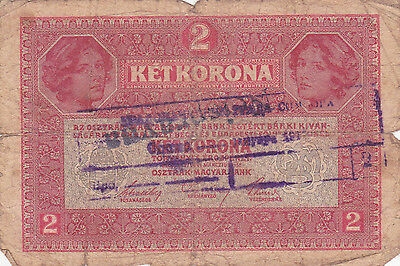 "2 Korona With Contemporary Fake Stamp+ Cancellation""nespravna""""invalid""1919N.f"