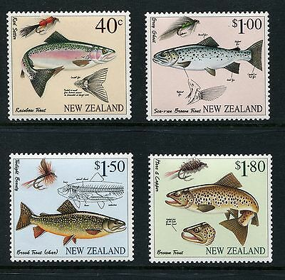 1997 New Zealand Mnh Sg 2082-2085 Fly Fishing Commemorative Stamp Set
