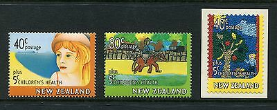 1997 New Zealand Mnh Sg 2086-2087 + 2089 Children`s Health Stamp Set