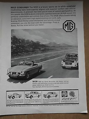 Mg Mgb & Magnette - 1965 Advert