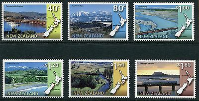 1997 New Zealand Mnh Sg 2091-2096 Scenic Railways Commemorative Stamp Set