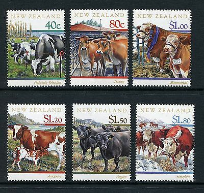 1997 New Zealand Mnh Sg 2043-2048 Cattle Breeds Commemorative Stamp Set