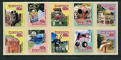 1997 New Zealand Mnh Sg 2064-2073 Curious Letterboxes Commemorative Stamp Set