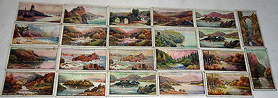 23 x 1914 PLAYERS CIGARETTE CARDS: GEMS OF BRITISH SCENERY