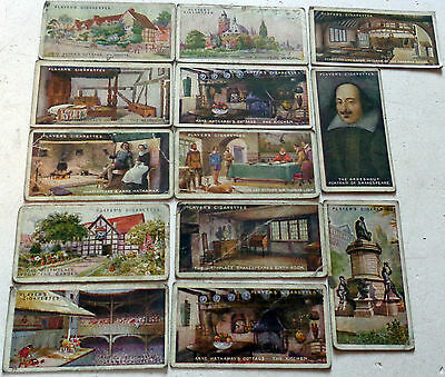 16 x 1914 PLAYERS CIGARETTE CARDS: SHAKESPEAREAN SERIES