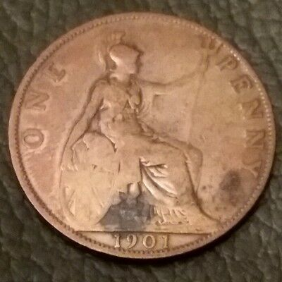 One Penny Coin 1901 Queen Victoria