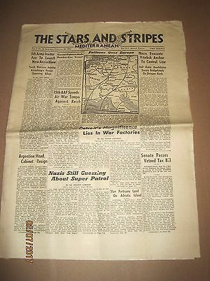 WW2 Stars and Stripes 2/26/1944~Detroit's war factories~Milt Caniff's Male Call