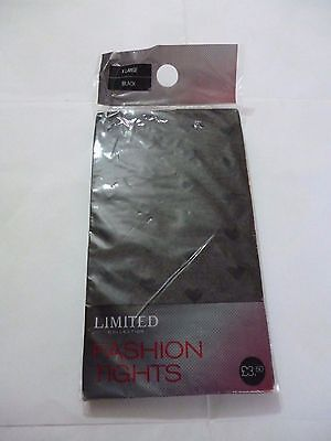 NEW Sz X-large Black Fashion Tights - Marks & Spencer