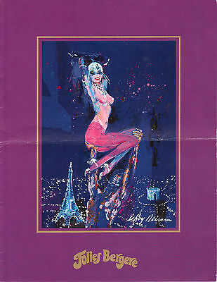 Vintage Folies Bergere (4) Pg Program~1980's Designed And Signed By Leroy Neiman