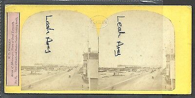 Original Early Stereoview Of Beach And Marine Parade, Great Yarmouth, By Fisher.