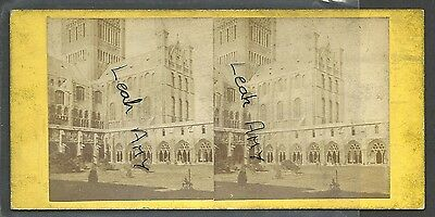Original Early Stereoview Of Norwich Cathedral And Cloisters. By J R Sawyer,