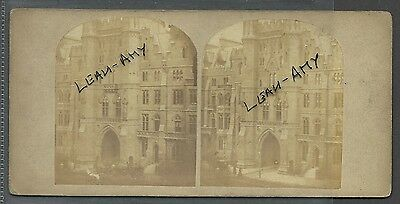 Original Early Stereoview Of Westminster College, London.