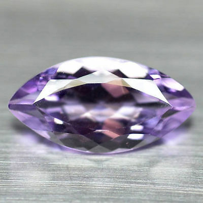 12x6mm MARQUISE-FACET LIGHT-PURPLE NATURAL BRAZILIAN AMETHYST GEMSTONE £1 NR!