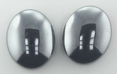 5 PIECES OF 10x8mm OVAL CABOCHON-CUT NATURAL BRAZILIAN HEMATITE GEMSTONES £1 NR!