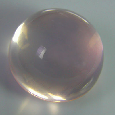 10mm ROUND CABOCHON-CUT NATURAL BRAZILIAN ROSE-QUARTZ GEMSTONE £1 NR!