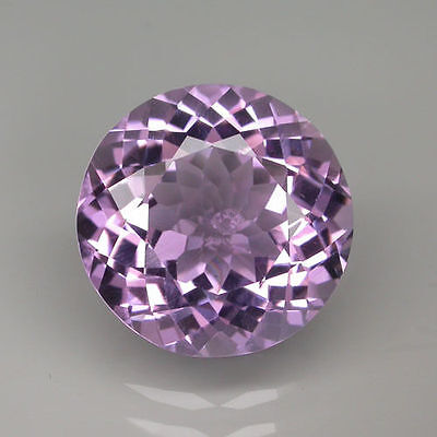 A PAIR OF 5mm ROUND-FACET LIGHT-PURPLE NATURAL BRAZILIAN AMETHYST GEMS £1 NR!