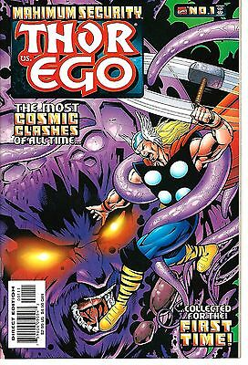 "Maximum Security: Thor vs. Ego (2000) VF Lee - Kirby Reprints ""Silver Age Thor"""