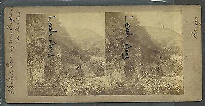 Original Early Stereoview Of Old Slate Quarry, Trefriw, North Wales