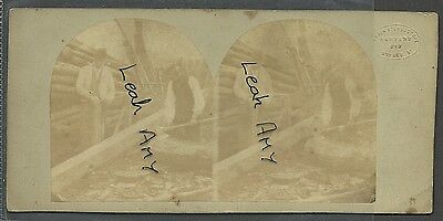 Original Early Stereoview Of Wood Workers, By The London Stereoscope Company.
