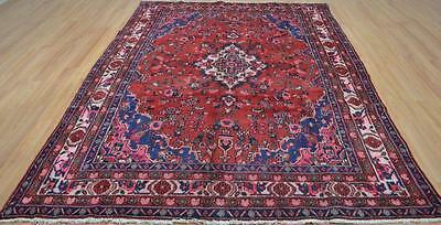6'8 x 9'11 Genuine S Antique Persian Lilihan Hand Knotted Oriental Wool Area Rug