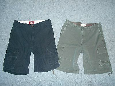 2 Pairs! Levis Mossimo Mens 38 Rugged Heavyweight Cargo Shorts Lot            A3