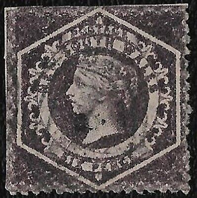 + 1860 New South Wales Queen Victoria #40a.A12 6p a.Aniline Lilac cv$250.used