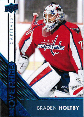 16/17 UD OVERTIME HOCKEY W2 BASE/RC BLUE PARALLEL CARDS 61-120 U-Pick From List