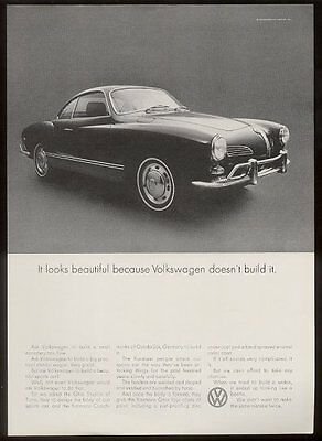 1969 VW Karmann-Ghia it looks beautiful because Volkswagen doesn't build it ad