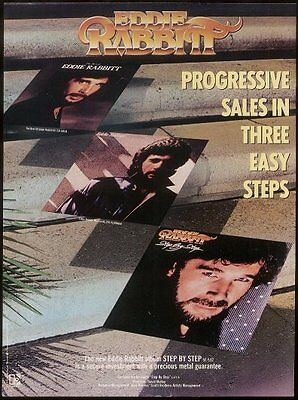 1981 Eddie Rabbit photo Step by Step song release trade print ad 2