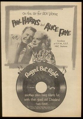 1951 Phil Harris Alice Faye photo Rugged but Right   trade print ad