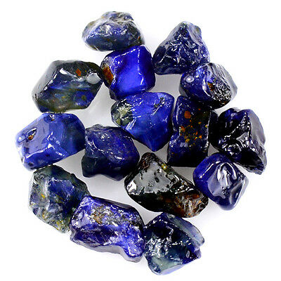 UNHEATED! 15pcs, 21.00ct NATURAL100% UNHEATED BLUE SAPPHIRE ROUGH SPECIMEN NR!