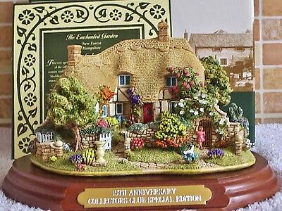 Lilliput Lane .. THE ENCHANTED GARDEN .. Collectors Club - 15 Year Exclusive