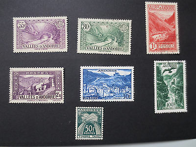 Andorra French Administration 1932-43 better collection MH Used View AirMail Tax