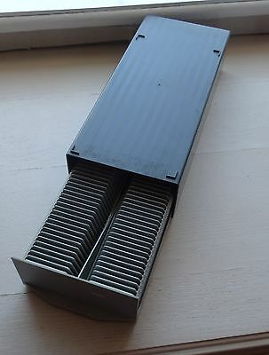 35mm SLIDE STORAGE BOX HOLDING 2  PROJECTOR TRAYS - TOTAL CAPACITY 100 SLIDES