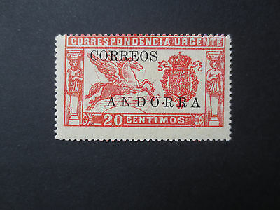 Andorra Spanish Administration 1928 20c express no control number  #14 MH