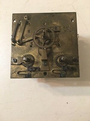 Antique AD Mougin French Wall Clock Movement From Bakers Clock