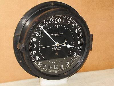 "Chelsea U.s.navy Ships Clock~8 1/2"" Dial~Circa 1942~Ww Era~Liberty Ship"
